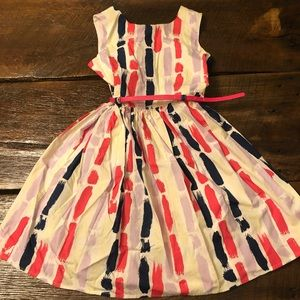 Party dress with removable belt